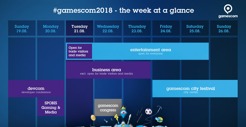 Gamescom Timetable